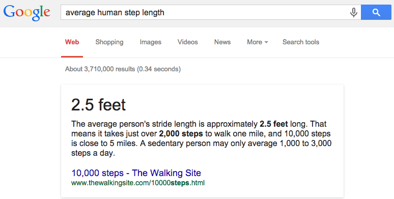 Average Step Length