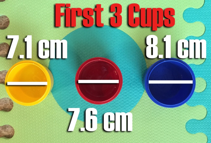 First Three Cups