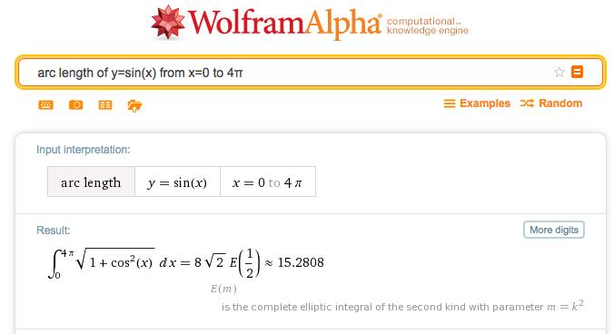Wolfram Alpha Sine WaveRunner