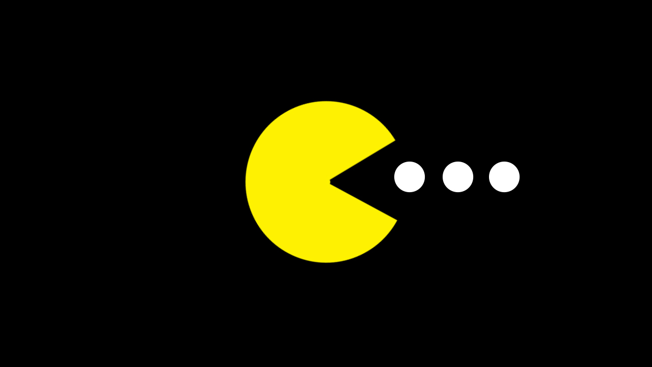 pac man s mouth when math happens