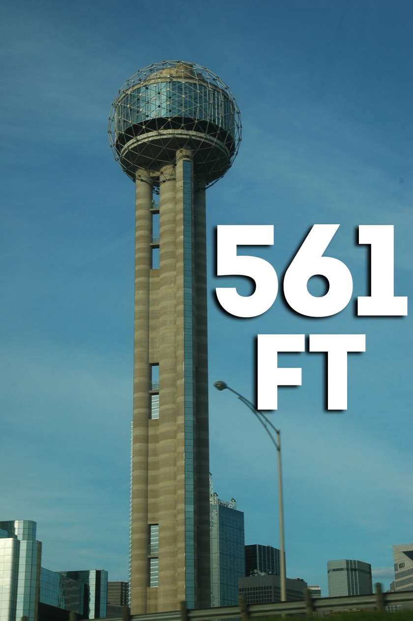 Reunion Tower Height