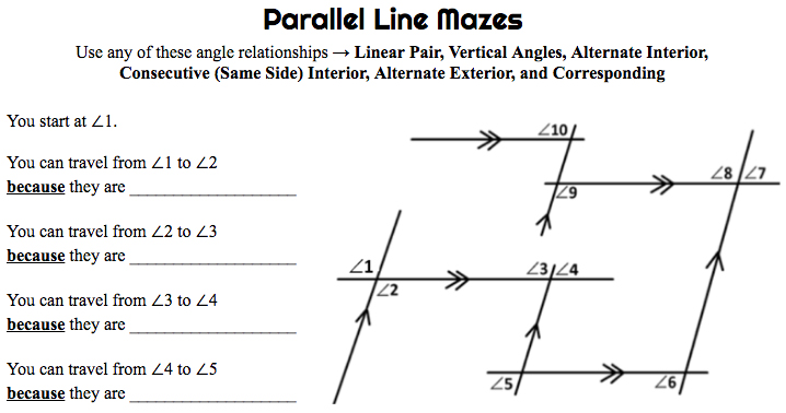 Parallel Line Mazes