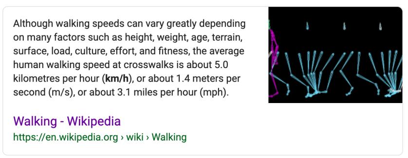 Average Human Walking Speed